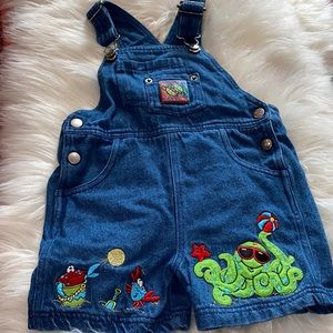 Vintage Buster Brown overall shorts